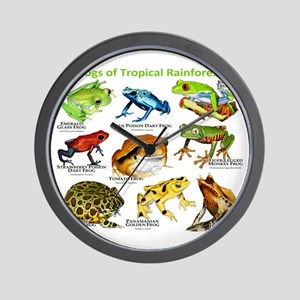 Frogs of the Tropical Rainforests Wall Clock