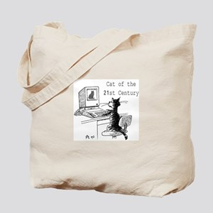 Cat on the Web Tote Bag