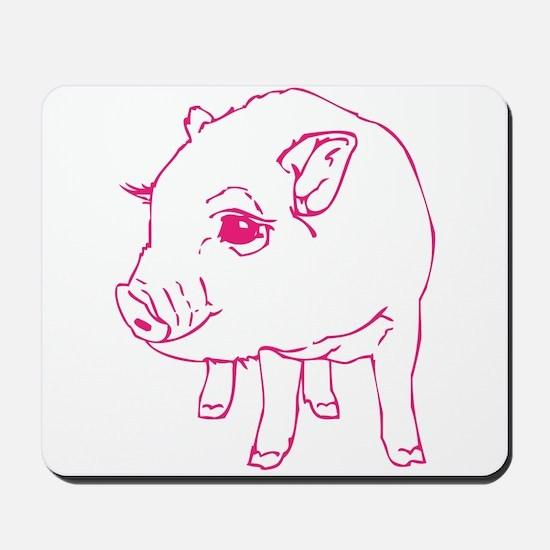 Pink Mini Pig Mousepad