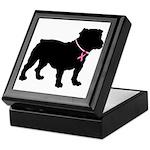 Bulldog Breast Cancer Support Keepsake Box