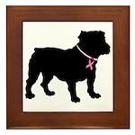 Bulldog Breast Cancer Support Framed Tile