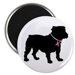 Bulldog Breast Cancer Support Magnet