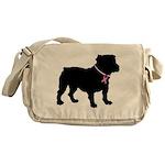 Bulldog Breast Cancer Support Messenger Bag