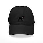 Bulldog Breast Cancer Support Black Cap