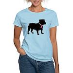 Bulldog Breast Cancer Support Women's Light T-Shir