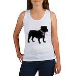 Bulldog Breast Cancer Support Women's Tank Top