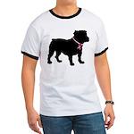 Bulldog Breast Cancer Support Ringer T