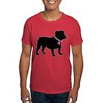 Bulldog Breast Cancer Support Dark T-Shirt