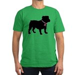 Bulldog Breast Cancer Support Men's Fitted T-Shirt
