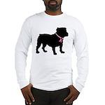 Bulldog Breast Cancer Support Long Sleeve T-Shirt