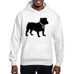 Bulldog Breast Cancer Support Hooded Sweatshirt
