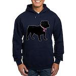 Bulldog Breast Cancer Support Hoodie (dark)