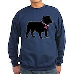 Bulldog Breast Cancer Support Sweatshirt (dark)