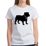 Bulldog Breast Cancer Support Women's T-Shirt