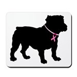 Bulldog Breast Cancer Support Mousepad
