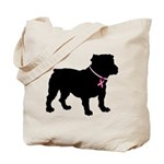 Bulldog Breast Cancer Support Tote Bag
