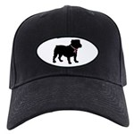 Bulldog Breast Cancer Support Black Cap