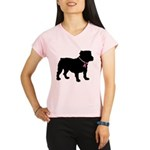 Bulldog Breast Cancer Support Performance Dry T-Sh