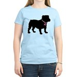 Bulldog Breast Cancer Support Women's Light T-Shir