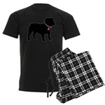 Bulldog Breast Cancer Support Men's Dark Pajamas