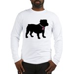 Bulldog Breast Cancer Support Long Sleeve T-Shirt
