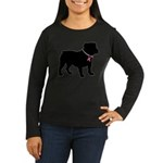 Bulldog Breast Cancer Support Women's Long Sleeve