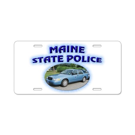 Maine State Police Aluminum License Plate By