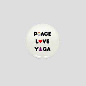 Peace Love Yoga Mini Button