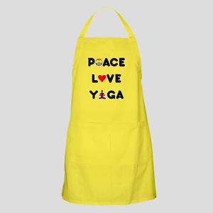 Peace Love Yoga Apron