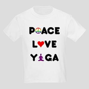 Peace Love Yoga Kids Light T-Shirt