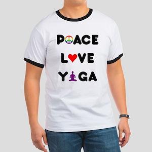 Peace Love Yoga Ringer T