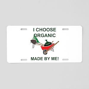 Organic Gardening Aluminum License Plate