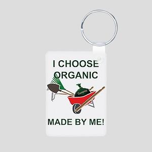 Organic Gardening Aluminum Photo Keychain