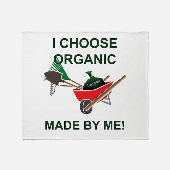 Organic Gardening Throw Blanket