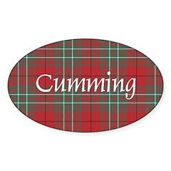 Tartan - Cumming Sticker (Oval 50 pk)