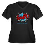 Gamer! Women's Plus Size V-Neck Dark T-Shirt