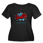 Gamer! Women's Plus Size Scoop Neck Dark T-Shirt