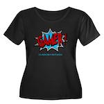 Gamer! Women's Plus Size Scoop Neck Dark T-Shirt