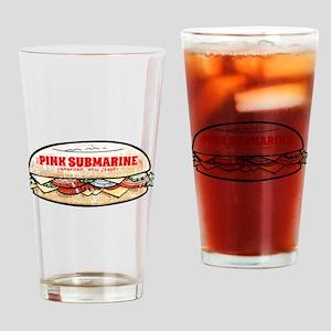 Pink Submarine Drinking Glass