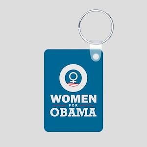 Women for Obama Aluminum Photo Keychain