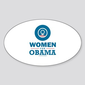 Women for Obama Sticker (Oval)