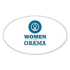 Women for Obama Sticker (Oval 10 pk)