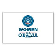Women for Obama Sticker (Rectangle 10 pk)