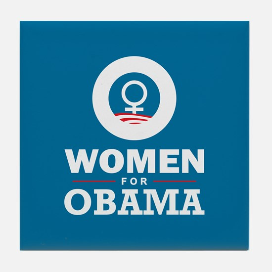 Women for Obama Tile Coaster