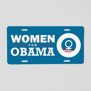 Women for Obama Aluminum License Plate