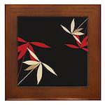 Trendy Floral Decor Framed Tile