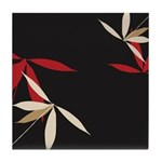 Trendy Floral Decor Tile Coaster