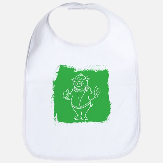 Cool Cartoon Pig Bib