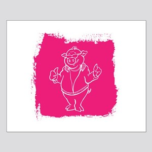 Cool Cartoon Pig Small Poster