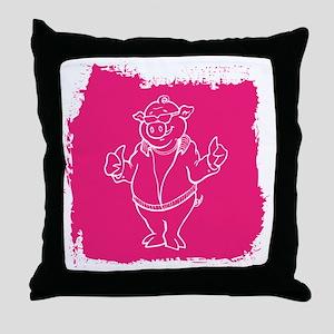 Cool Cartoon Pig Throw Pillow